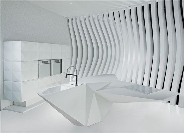 Karim rashid s origami island kitchen looking blog for Amr helmy kitchen designs egypt